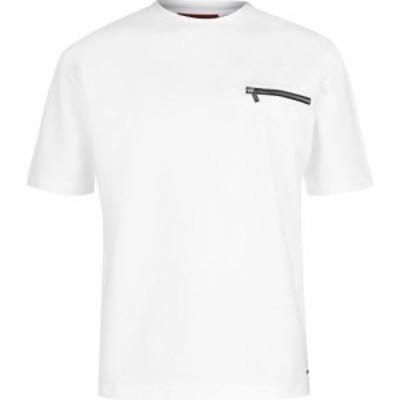 ヒューゴ ボス HUGO メンズ Tシャツ トップス Dalzo T Shirt White