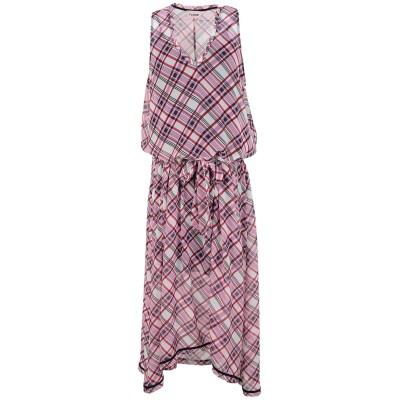 FLOOR ロングワンピース&ドレス フューシャ M コットン 100% ロングワンピース&ドレス