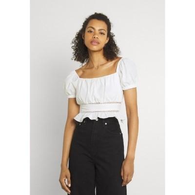トレンドヨル シャツ レディース トップス Print T-shirt - white