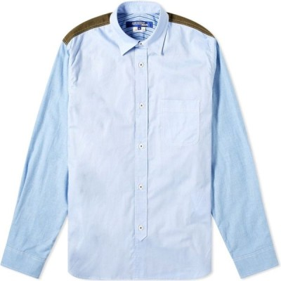 ジュンヤ ワタナベ Junya Watanabe MAN メンズ シャツ トップス patchwork check shirt Blue/Khaki/Multi