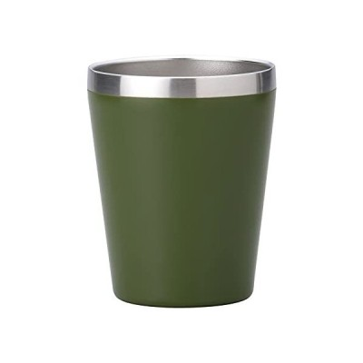 小倉陶器 真空断熱 ステンレスタンブラー 360ml 保温 保冷 二重構造 コンビニコーヒーカップ マグ (マットカーキ) 約φ8.5×h10.7cm