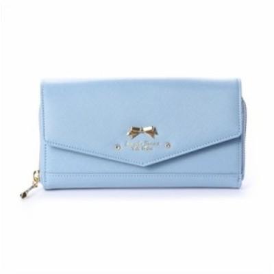 サマンサタバサプチチョイス SamanthaThavasaPetitChoice 長財布 オリジナルリボン ウォレットバッグ ブルー