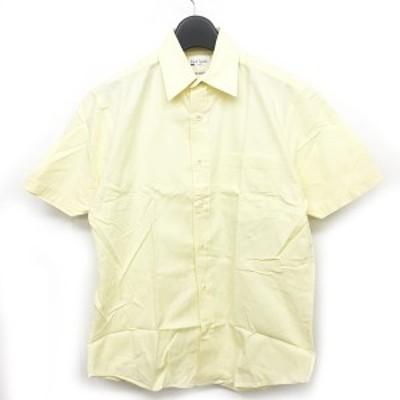 【中古】ポールスミス PAUL SMITH ロンドン LONDON カジュアルシャツ 半袖 黄 イエロー 系 M ECR2 0210 メンズ