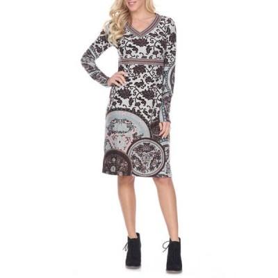 ホワイトマーク レディース ワンピース トップス Naarah Embroidered Sweater Dress
