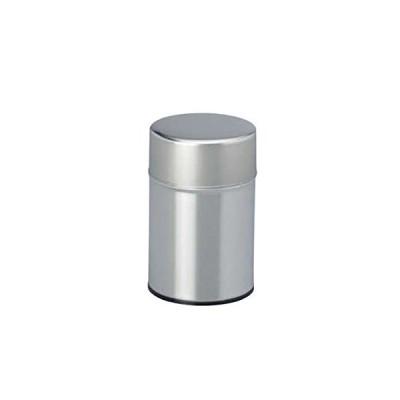 茶筒・茶葉ストッカー 白缶 100g無地 内容量100g用