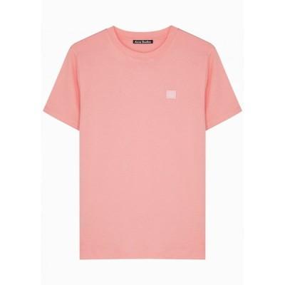 アクネ ストゥディオズ Acne Studios レディース Tシャツ トップス Elisson Pink Cotton T-Shirt Pink