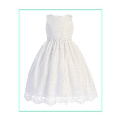 Swea Pea & Lilli First Communion Dresses for Girls 7-16 with Lace (Size 8) White並行輸入品