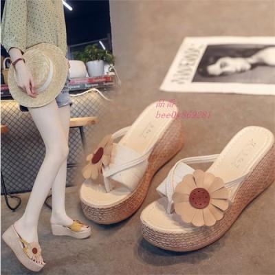 サンダル レディース ミュール PU サマーサンダル 海 美脚 夏 カジュアル リゾート コンフォートサンダル 歩きやすい 靴7cmヒール 可愛い 厚底 履きやすい