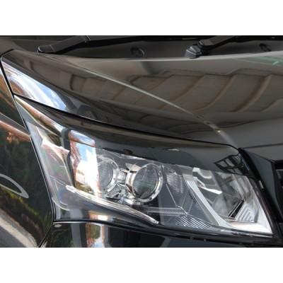 LA100S ムーヴカスタム エアロパーツ アイライン ヘッドライトカバー 【GLANZ】 塗装なし 後期
