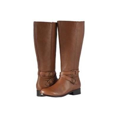 トロッターズ レディース ブーツ&レインブーツ シューズ Liberty Wide Calf Cognac Soft Tumbled Leather