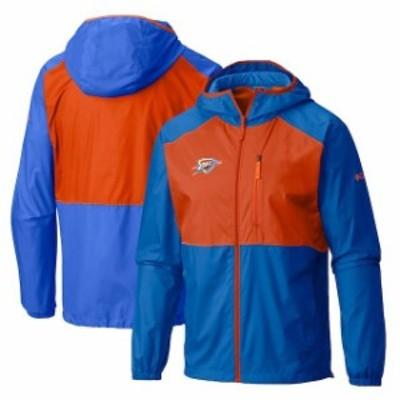 Columbia コロンビア スポーツ用品  Columbia Oklahoma City Thunder Blue Flash Forward Full-Zip Windbreaker Jacket