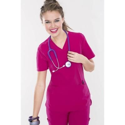 LANDAU Smitten S101002モデル 女性用 米国メーカー スクラブ トップス 医療用 ハイパーストレッチ 高素材