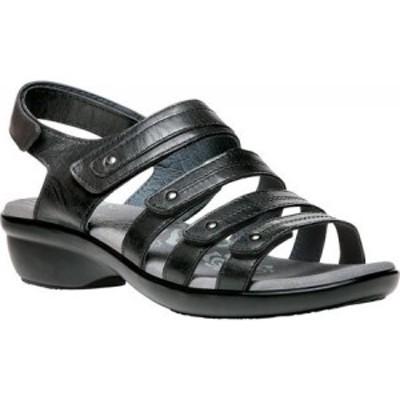 プロペット Propet レディース サンダル・ミュール シューズ・靴 Aurora Strappy Slingback Sandal Black Full Grain Leather