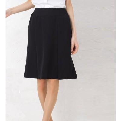 着心地と美シルエットにこだわった究極のリラックスマーメイドプリーツスカート 美形シリーズ 事務服 オフィス 通勤 ひざ丈 きれいめ