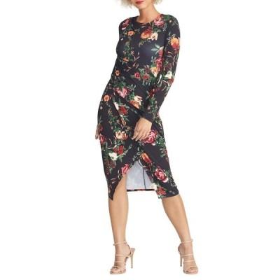 ライチェルレイチェルロイ レディース ワンピース トップス Bret Floral Print Long Sleeve Dress BLACK COMBO