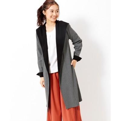 大きいサイズ リブカットソー配色コーディガン ,スマイルランド, コート, plus size coat