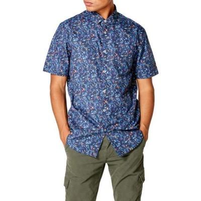グッドマンブランド メンズ シャツ トップス Slim Fit  On Point Floral Shirt NAVY BLUE JAY VINE FLORAL