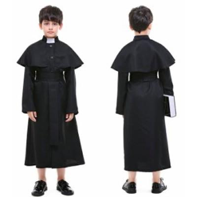 牧師コスプレ 子供 キッズ ダンス衣装 ダンスウェア 舞台衣装 ハロウィン 仮装 コスプレ 衣装 ハロウィンコスチューム フリー