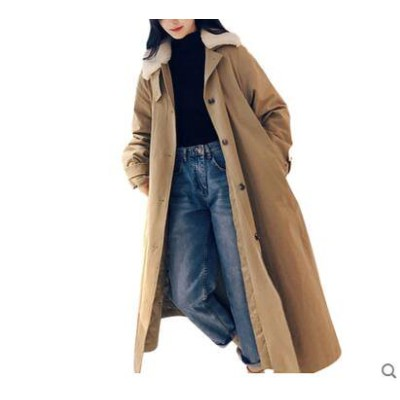 ◆送料無料◆ウインドブレーカーの綿の服の女性の2019新しい 中長セクション ウエスト が細い コート 学生の冬の厚い バージョンのコート