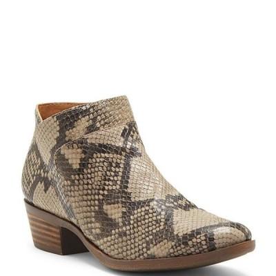 ラッキーブランド レディース ブーツ・レインブーツ シューズ Brintly2 Snake Print Leather Block Heel Booties