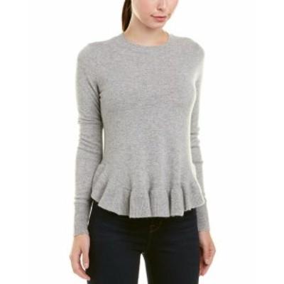 Autumn Cashmere オータムカシミア ファッション トップス Autumn Cashmere Ruffle Shirttail Cashmere Sweater S Grey