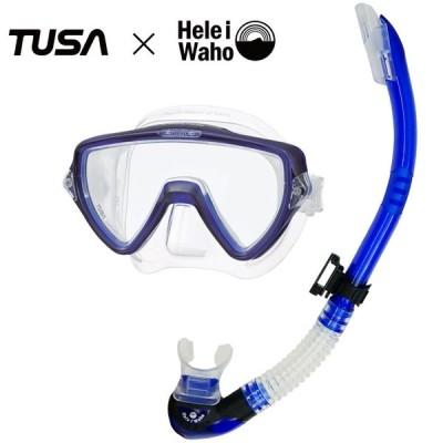 ダイビング マスク シュノーケル セット 軽器材 2点セット TUSA ツサ M19 visio uno ヴィジオウノ スノーケル ドライシュノーケル 【m19-sp170】