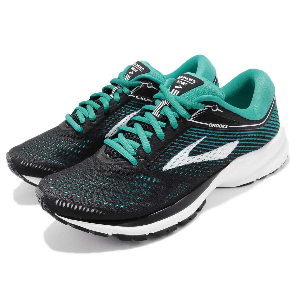 BROOKS 慢跑鞋 Launch 5 運動 女鞋 路跑 緩震 DNA科技 透氣 舒適 黑 綠 [1202661B003]