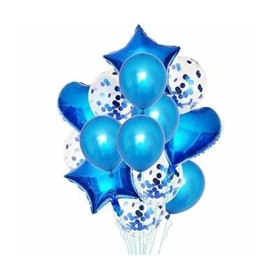 GRESATEK バルーン 風船セット 飾り付け 星風船 ハート風船 きらきら紙吹雪風船 飾り 装飾 誕生日 バースデー パ
