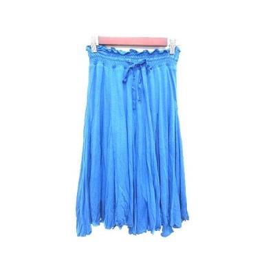 【中古】アナディス dun a dix フレアスカート ニット ひざ丈 38 青 ブルー /YK レディース 【ベクトル 古着】