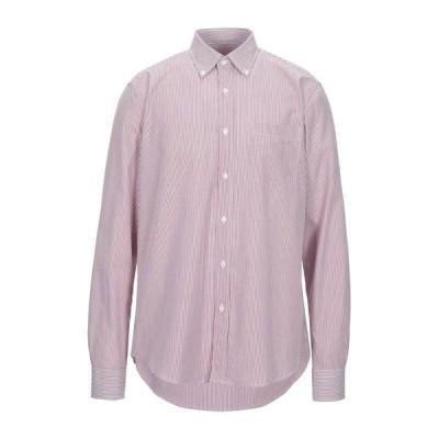 ARMATA DI MARE ストライプ柄シャツ  メンズファッション  トップス  シャツ、カジュアルシャツ  長袖 ボルドー
