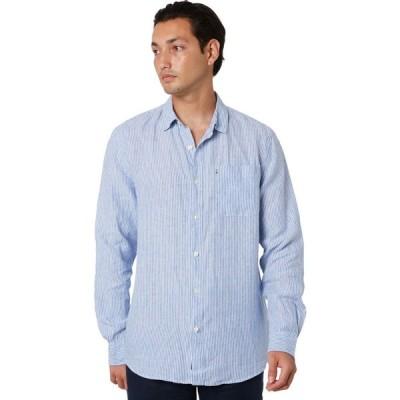 ザアカデミーブランド Academy brand メンズ シャツ トップス hampton linen shirt Sky stripe