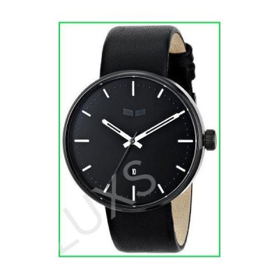 """Vestal Unisex ROS3L002 """"Roosevelt"""" Stainless Steel Watch with Leather Band 並行輸入品"""