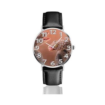 腕時計 トカゲ ヤモリ ウオッチ クラシック カジュアル 防水 クォーツムーブメント レザー ベルトビジネス オ?