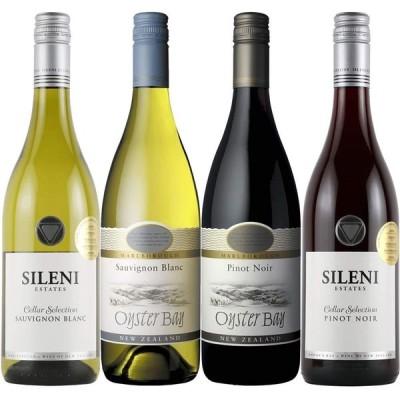 今一番ホットなワイン産地 ニュージーランド 厳選ワイン飲みくらべ 赤・白 [750ml×4本]