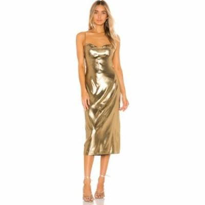 エヌビーディー NBD レディース ワンピース ワンピース・ドレス Mina Dress Gold
