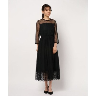 ドレス シアーレースドレス