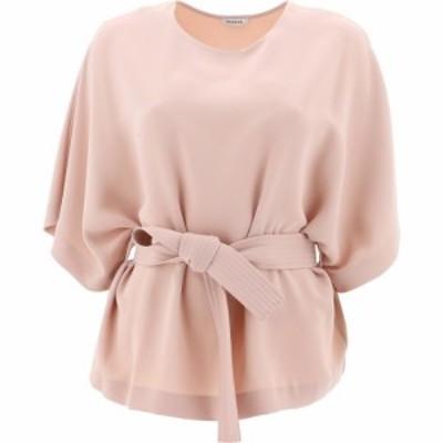 パロッシュ P.A.R.O.S.H. レディース Tシャツ トップス T-Shirt With Belt Pink