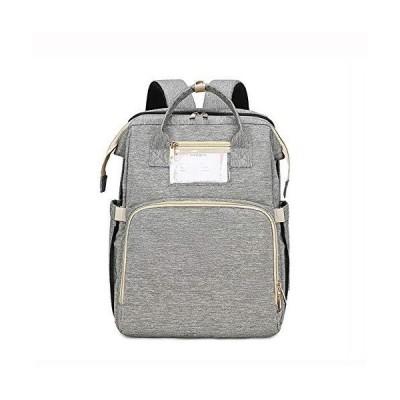 [Luxuria] ポータブルベビーベッド付きマおむつバッグバックパック赤ちゃん旅行折りたたみ式ベッドバッグマザ?