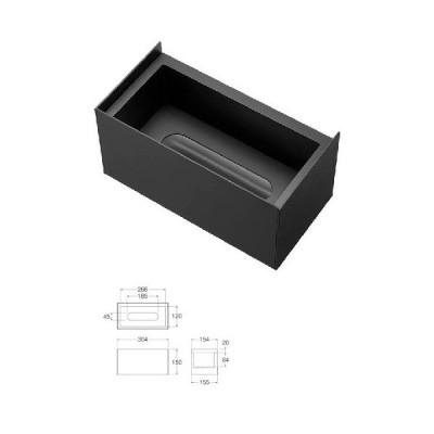 洗面所 三栄水栓 W239-2 ティッシュボックス棚 洗面所用 [□]