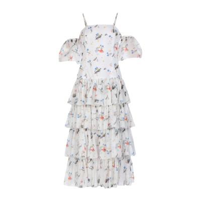 VIVETTA ロングワンピース&ドレス ホワイト 40 コットン 100% ロングワンピース&ドレス