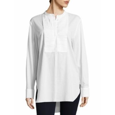 ティビ レディース トップス シャツ Mabel Twill Pintucked Cotton Shirt