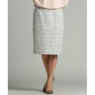 LAUTREAMONT/ロートレアモン 尾州産地で作ったロートレアモンオリジナルのファンシーツイードスカート アイボリー 7号