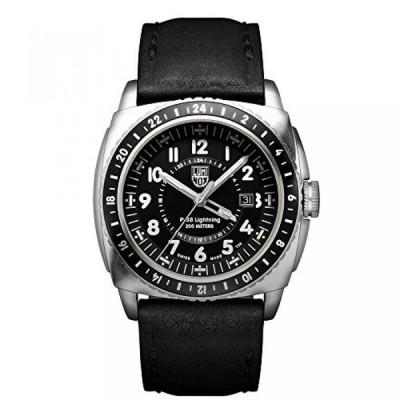 ルミノックス 腕時計 メンズウォッチ Luminox Men's 9421 P-38 Lightning 9420 Series Analog Display Analog Quartz Black Watch