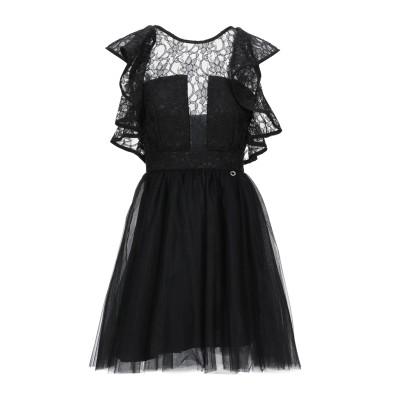 MANGANO ミニワンピース&ドレス ブラック 42 ポリエステル 100% ミニワンピース&ドレス