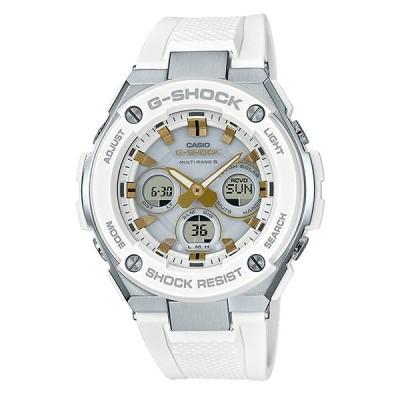 G-SHOCK Gショック ジーショック G-STEEL Gスチール カシオ 電波 ソーラー アナデジ メンズ 腕時計 ホワイト ゴールド GST-W300-7AJF 国内正規モデル
