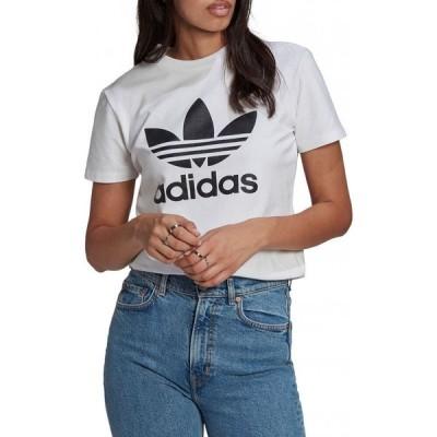 アディダス ADIDAS レディース Tシャツ トップス Adicolor Classics Trefoil Graphic Tee White