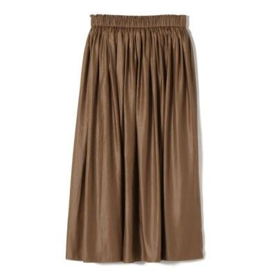 SHIPS for women/シップスウィメン チンツギャザースカート キャメル ONE SIZE