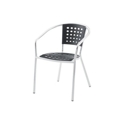 アームチェア(ブラック/黒)〈ODS-20BK〉スタッキングチェア 積み重ね可 パーソナルチェア 屋外可 アウトドア ガーデン テラス 椅子 インテリア 家具