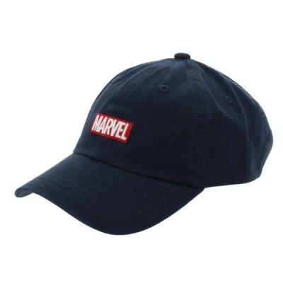 マーベル BOXロゴ ツイルキャップ MV-9C12010CP キャップ 帽子 : ネイビー MARVEL
