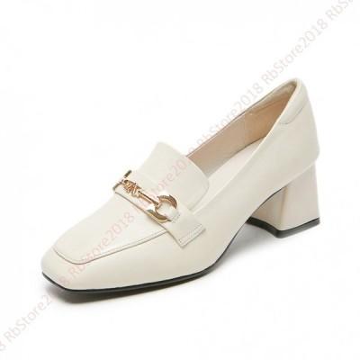 パンプス 黒 ローヒール 歩きやすい スクエアトゥ レディース 靴 3cmヒール 履きやすい  純色  優雅  20代 30代 40代  エレガント  プレーン  シューズ 幅広
